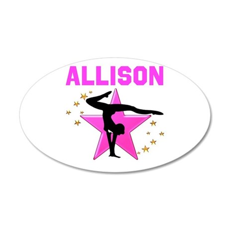 GYMNAST FOREVER 20x12 Oval Wall Decal