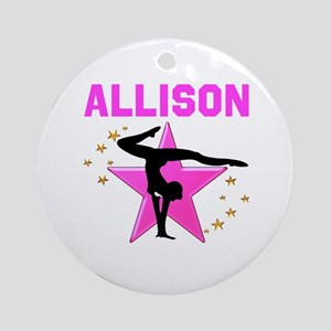 GYMNAST FOREVER Round Ornament