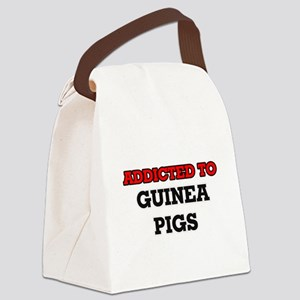 Addicted to Guinea Pigs Canvas Lunch Bag