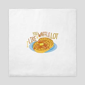 A Waffle Lot Queen Duvet