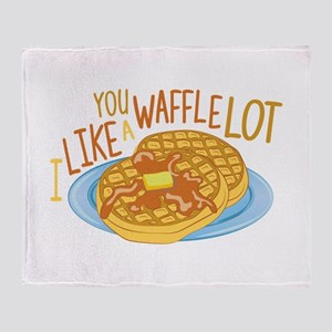 A Waffle Lot Throw Blanket