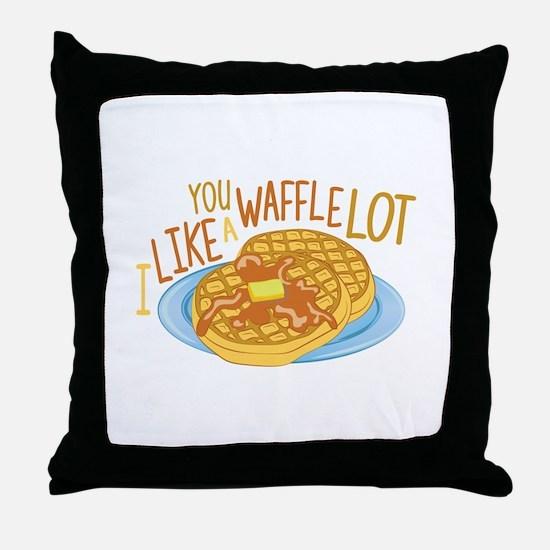 A Waffle Lot Throw Pillow
