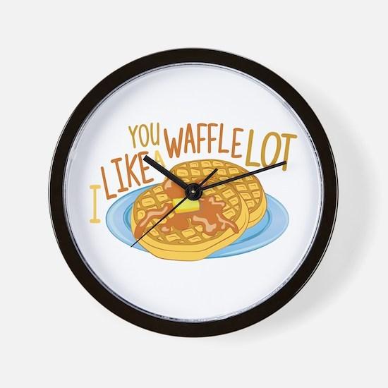 A Waffle Lot Wall Clock