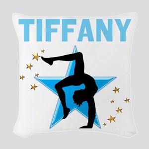 GYMNAST GIRL Woven Throw Pillow