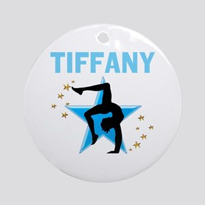 GYMNAST GIRL Round Ornament