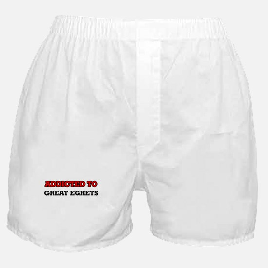Addicted to Great Egrets Boxer Shorts