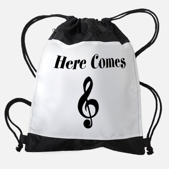 Cute Music Drawstring Bag