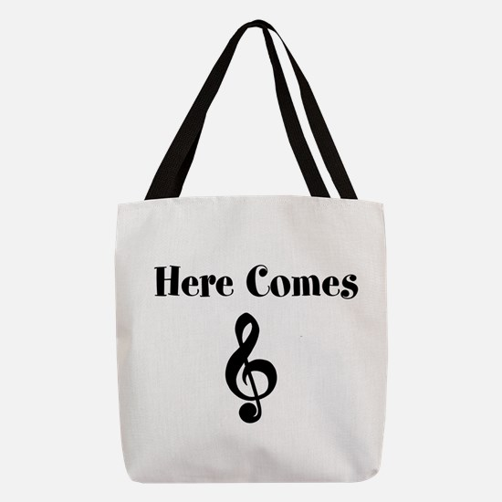 Unique Music Polyester Tote Bag