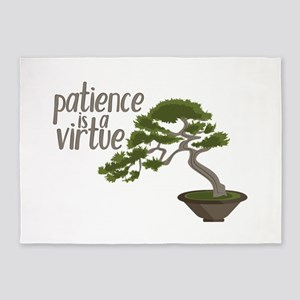 Patience Is Virtue 5'x7'Area Rug