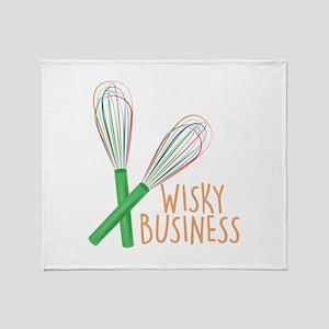 Wisky Business Throw Blanket
