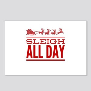 Sleigh All Day Postcards (Package of 8)
