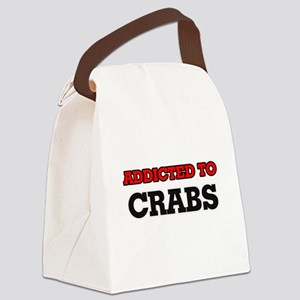 Addicted to Crabs Canvas Lunch Bag