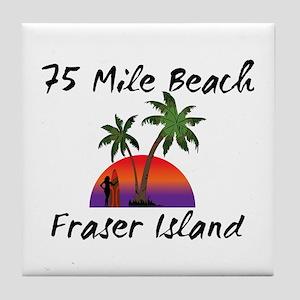 75 Mile Beach Fraser Island Australia Tile Coaster
