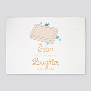 Soap Laughter 5'x7'Area Rug