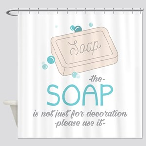 The Soap Shower Curtain