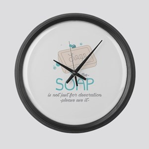 The Soap Large Wall Clock