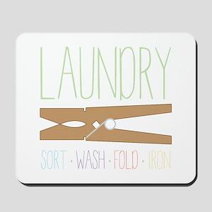 Sort Wash Fold Mousepad