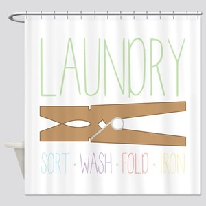Sort Wash Fold Shower Curtain