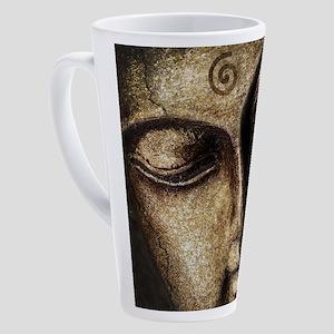 The Peaceful Face Of Buddha 17 oz Latte Mug