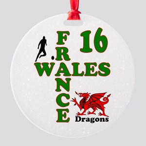 Wales France Dragons 16 Round Ornament