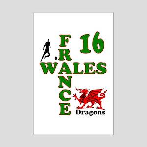 Wales France Dragons 16 Poster Print (Mini)