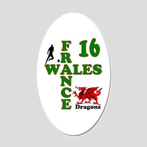 Wales France Dragons 16 20x12 Oval Wall Decal