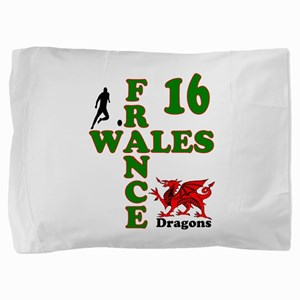 Wales France Dragons 16 Pillow Sham