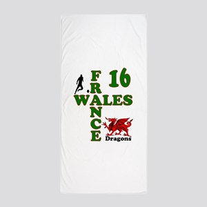 Wales France Dragons 16 Beach Towel