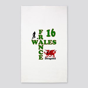 Wales France Dragons 16 Area Rug