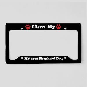 I Love My Majorca Shepherd Dog License Plate Holde