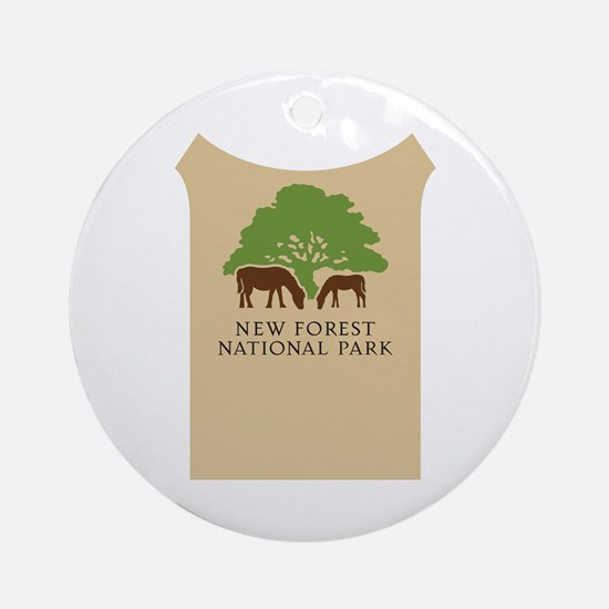 New Forest National Park, UK Round Ornament