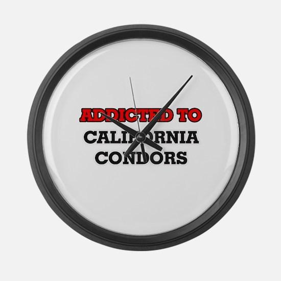 Addicted to California Condors Large Wall Clock