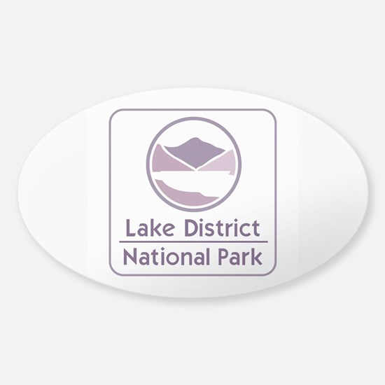 Lake District National Park, UK Sticker (Oval)