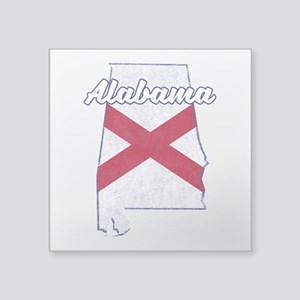 Alabama State Flag Vintage Outline Sticker