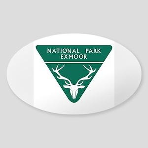 Exmoor National Park, UK Sticker (Oval)