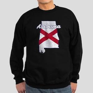 Alabama State Flag Vintage Outli Sweatshirt (dark)