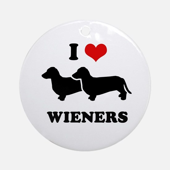 I love my wieners Ornament (Round)