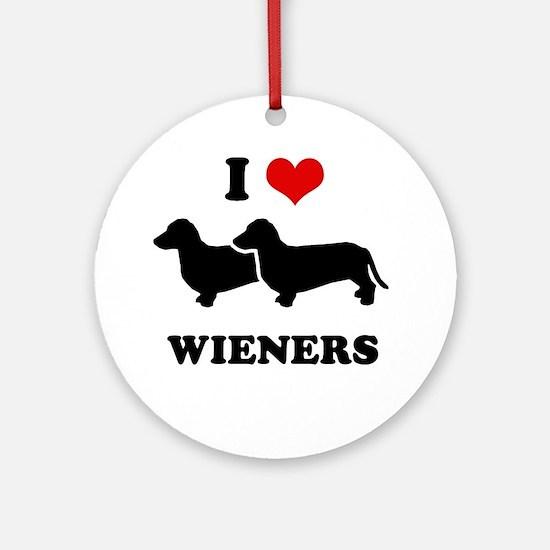 I love my wieners Ornament (Round)