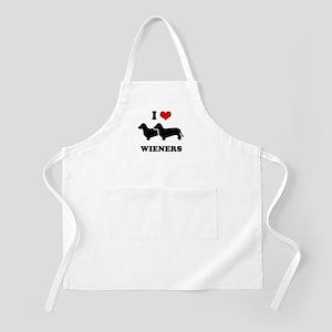 I love my wieners BBQ Apron
