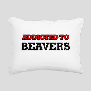 Addicted to Beavers Rectangular Canvas Pillow
