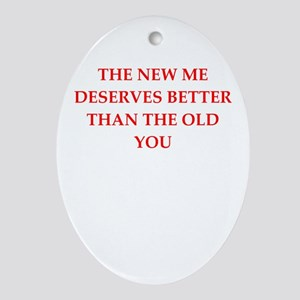 divorce Oval Ornament