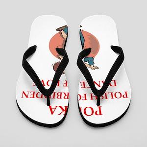 polka Flip Flops