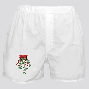 Christmas Mistletoe Boxer Shorts