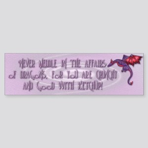 Never Meddle with Dragons Bumper Sticker