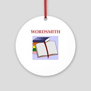 Wordsmith Round Ornament