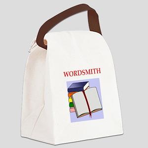 wordsmith Canvas Lunch Bag