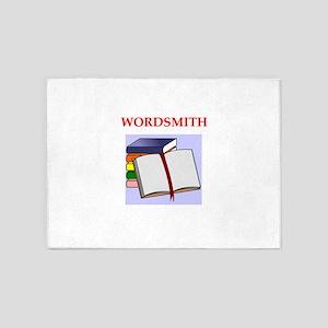 wordsmith 5'x7'Area Rug