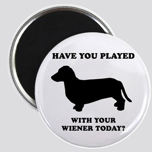 Have you played with your wiener today? Magnet