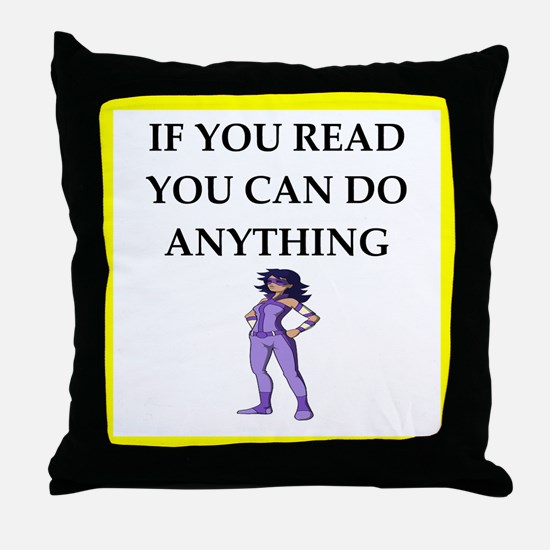 reading joke Throw Pillow