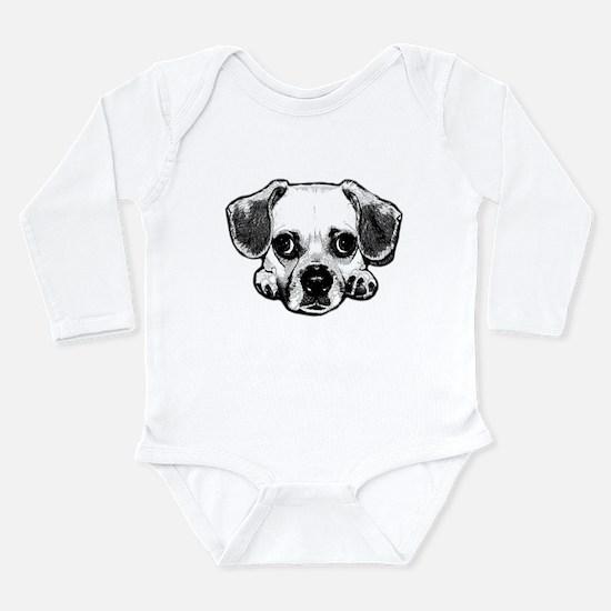 Black & White Puggle Infant Bodysuit Body Suit
